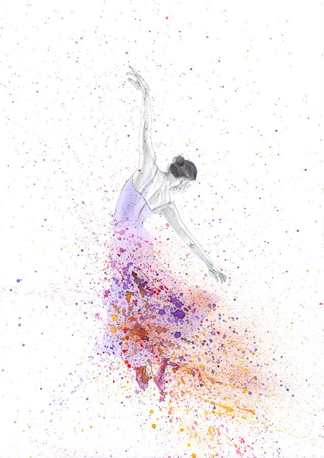 flying swan painting