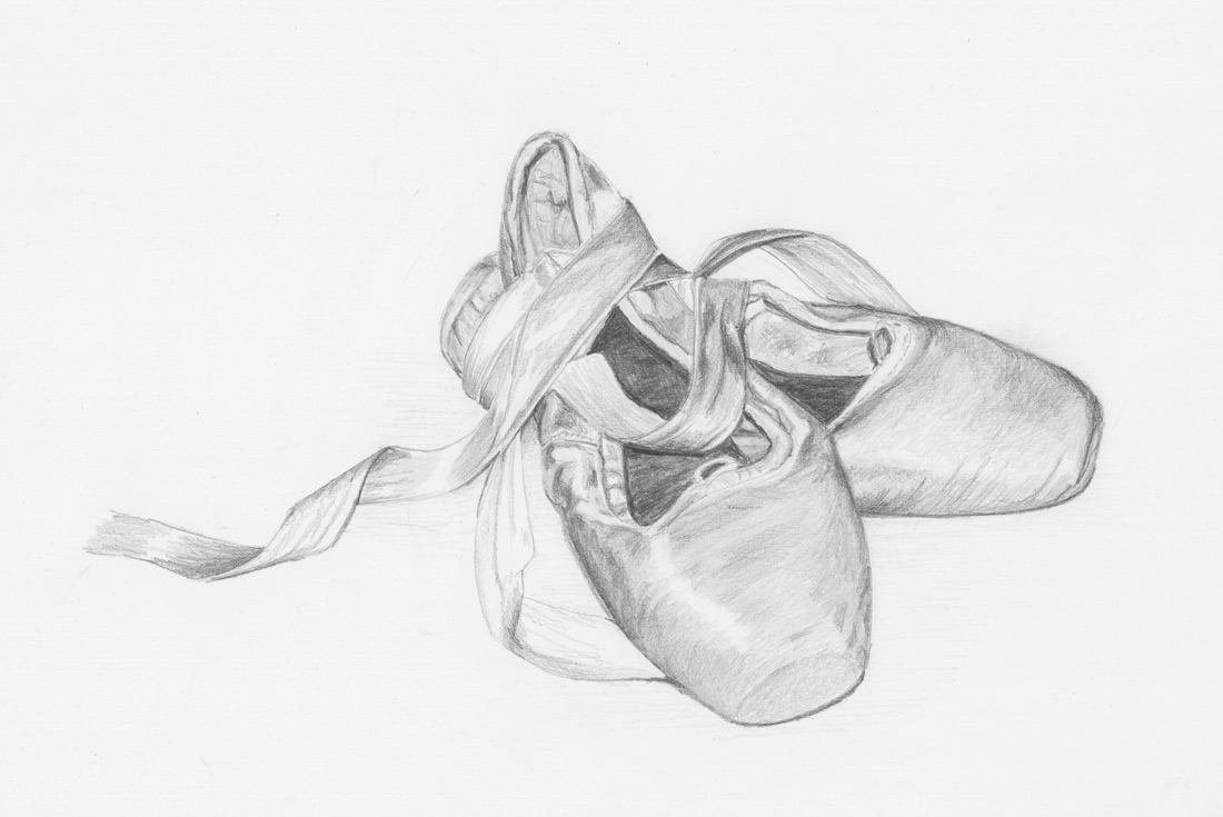 Ballet shoes pencil drawings